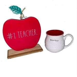 NEW Rae Dunn Apple teacher decor & coffee mug